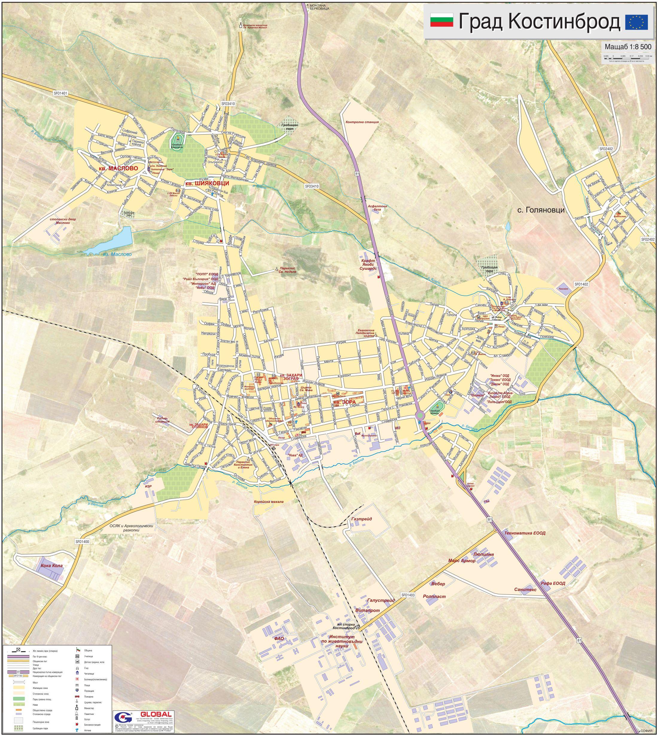 Karta Na Gr Kostinbrod Obshina Kostinbrod