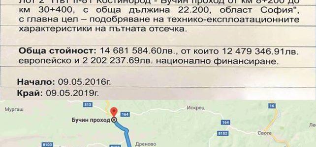 Община Костинброд Ви кани на Първа копка за рехабилитацията на път II-81 Костинброд – Бучин проход