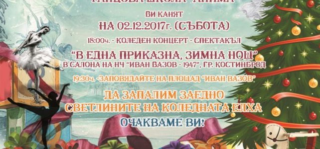 "Община Костинброд и танцова школа ""Анима"" Ви канят на Коледен концерт – спектакъл"