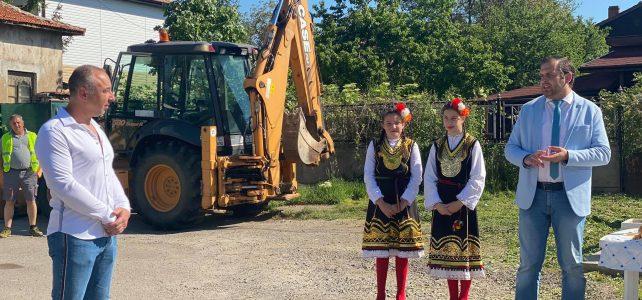 """Днес, 13 май 2020г., в центъра на село Голяновци се състоя церемония """"Първа копка"""" на водопроводната мрежа"""