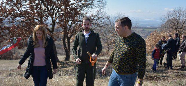 Продължава засаждането на плодна, медоносна и ветрозащитна гора в община Костинброд